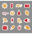 summer stickers collection vector image vector image