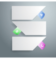 Three white paper notes vector image vector image
