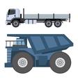 Trucks van vector image vector image