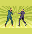 two men businessman fighting vector image vector image