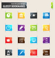 university bookmark icons vector image