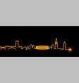 verona light streak skyline vector image