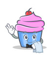 waiter cupcake character cartoon style vector image vector image