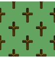 Wood Cross Seamless Pattern vector image vector image