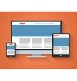 Responsive web design in flat style vector image