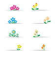 cute flowers with white paper vector image
