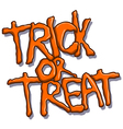 trick or treat halloween text vector image