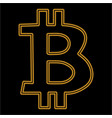 bitcoin is an isolated simple seamless vector image