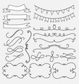 set of decorative calligraphic elements vector image