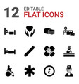 12 help icons vector image vector image