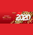 2020 happy new year background merry christmas vector image vector image