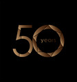 50 year anniversary logo template design vector image vector image