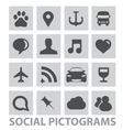 abstract social pictograms symbols set isolated vector image vector image
