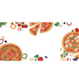 ad banner for pizzeria with realistic pizza slices vector image vector image