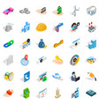 adress icons set isometric style vector image vector image