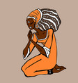 african woman in ethnic style vector image vector image