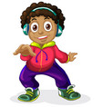 an american african children character vector image