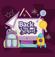 back to school education online class backpack vector image vector image