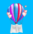 balloon and hearts vector image