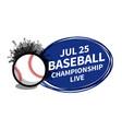 baseball softball sport scoreboard spotlight vector image vector image
