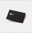 black credit card blank realistic template for vector image vector image