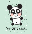 blue panda vector image vector image
