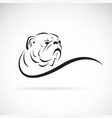 bulldog head design on white background pet vector image