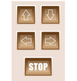 Buttons are pointers vector image