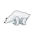 cartoon bear animal winter wildlife vector image