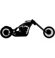 chopper motorbike silhouette vector image vector image
