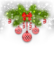 Christmas glowing background with fir branches vector image vector image