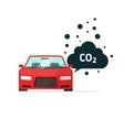 co2 emissions car carbon vector image