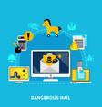 dangerous mail design concept vector image vector image