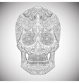 Day Of The Dead Hand Drawn Skull ornamentrd vector image
