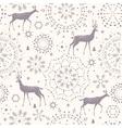 deer seamless winter vector image