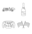 design car and rally icon collection of vector image vector image