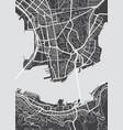 detailed map hong kong vector image vector image