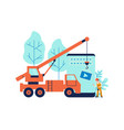 development concept and website under construction vector image vector image