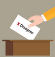 disagree cross mark choice vote hand putting a vector image