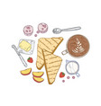 elegant hand drawn composition with delicious vector image