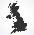 england uk united kingdom map simplified vector image