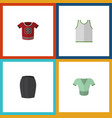 flat icon clothes set of singlet stylish apparel vector image vector image