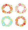 floral frames in circle shapes with place for your vector image vector image