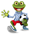 frog football player vector image vector image