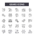 gears line icons for web and mobile design vector image