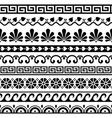 greek key pattern waves seamless pattern vector image