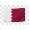 hanging flag qatar state qatar national vector image vector image