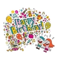Happy Birthday kids card vector image vector image