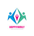 happy family - concept sign vector image vector image