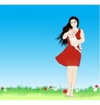 Happy mother vector image vector image